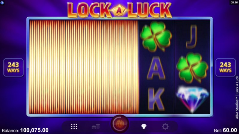 Lock A Luck :: Random reels are locked during every spin