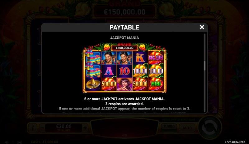 Loco Habanero :: Jackpot Rules