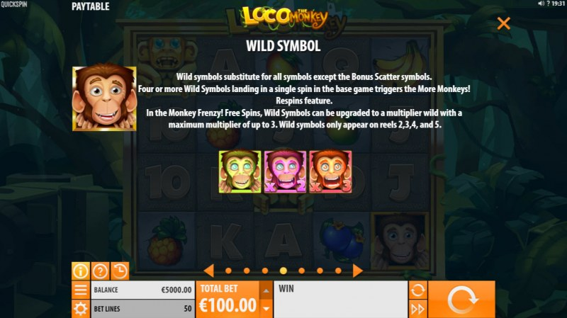 Loco the Monkey :: Wild Symbol Rules