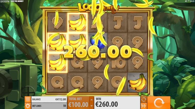 Loco the Monkey :: Multiple winning combinations