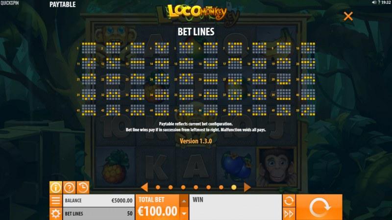 Loco the Monkey :: Paylines 1-50
