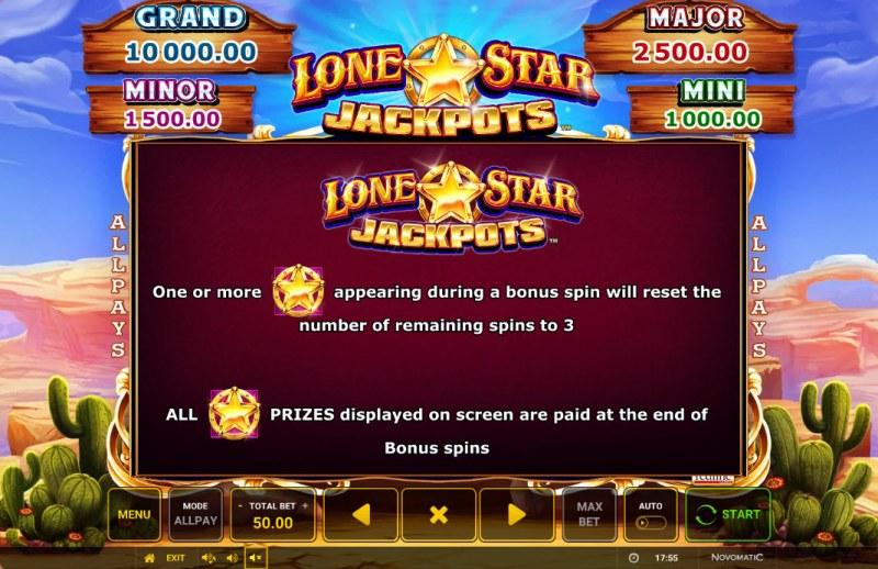 Lone Star Jackpots :: Jackpot Rules