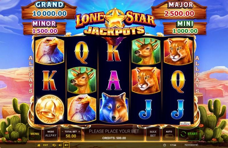 Lone Star Jackpots :: Main Game Board