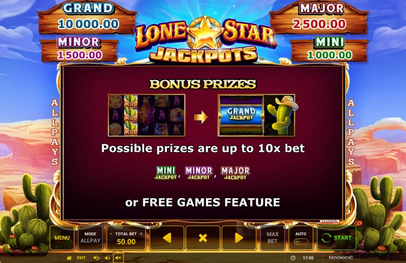 Lone Star Jackpots :: Bonus Feature