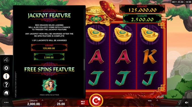 Long Mu Fortunes :: Jackpot Rules