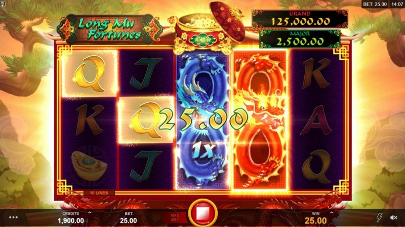 Play slots at Jaak Casino: Jaak Casino featuring the Video Slots Long Mu Fortunes with a maximum payout of $125,000