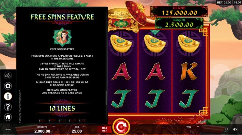 Play slots at Yeti Casino: Yeti Casino featuring the Video Slots Long Mu Fortunes with a maximum payout of $125,000