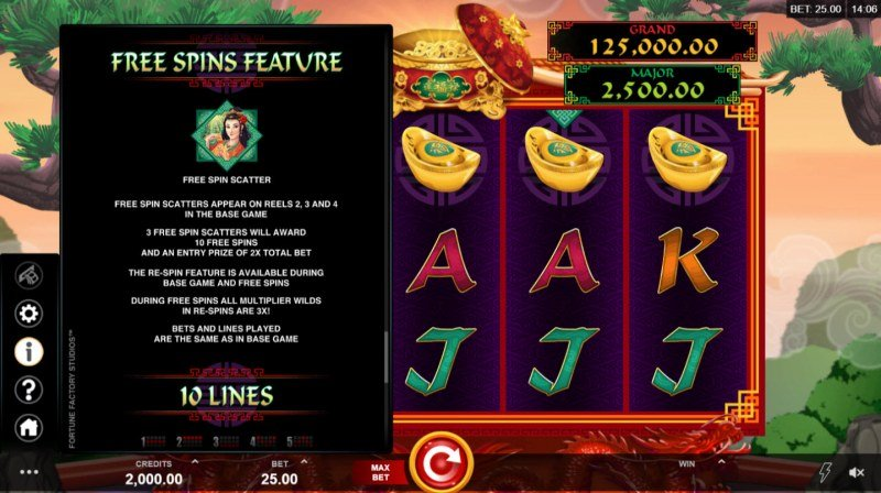 Long Mu Fortunes :: Free Spins Rules