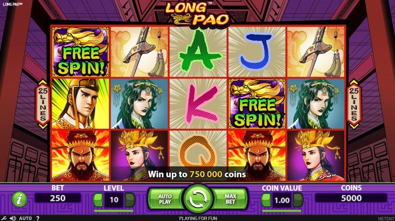 Play slots at Freaky Vegas: Freaky Vegas featuring the Video Slots Long Pao with a maximum payout of $750,000