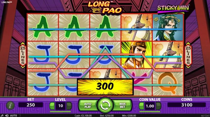 Long Pao :: Multiple winning paylines