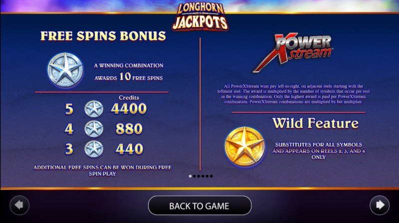 Longhorn Jackpots :: Free Spins Rules