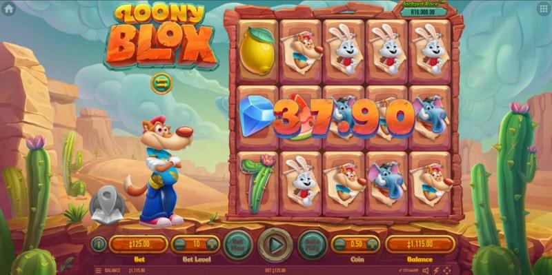 Loony Blox :: Multiple winning combinations