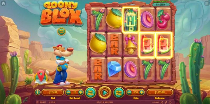 Loony Blox :: Multiple winning paylines