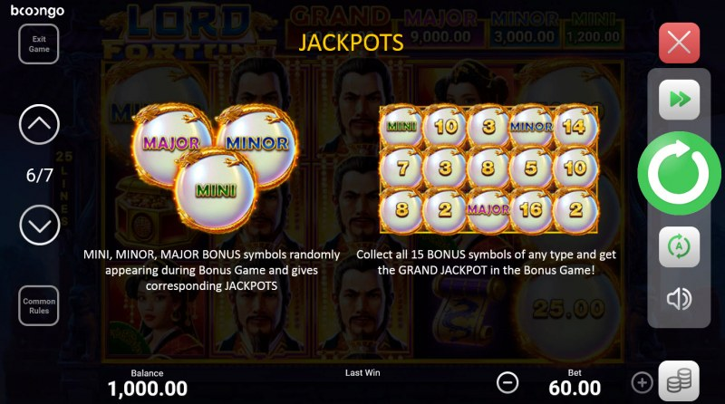 Lord Fortune Hold and Win :: Jackpot Rules
