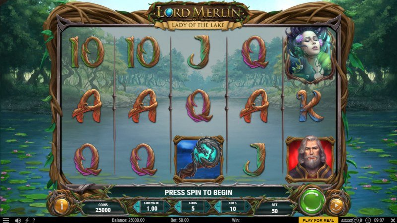 Lord Merlin and the Lady of the Lake :: Main Game Board