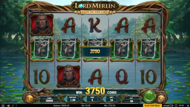 Lord Merlin and the Lady of the Lake :: A five of a kind win