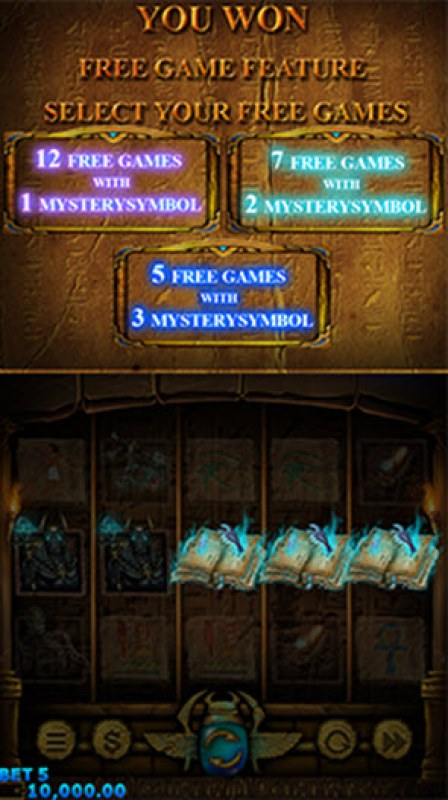 Lord of the Dead :: Scatter symbols triggers the free spins feature