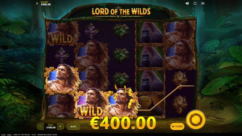 Lord of the Wilds :: A three of a kind win