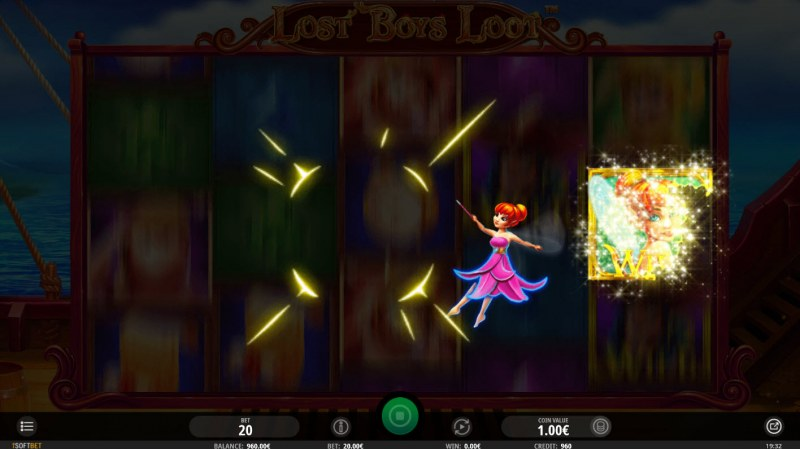 Lost Boys Loot :: Tinks Touch feature randomly activates during any spin