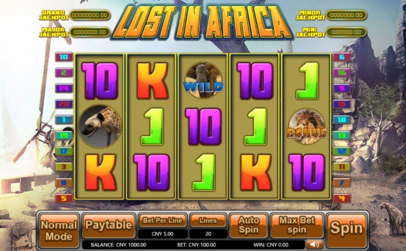 Lost in Africa :: Main Game Board