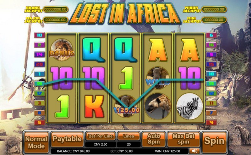 Lost in Africa :: Five of a kind