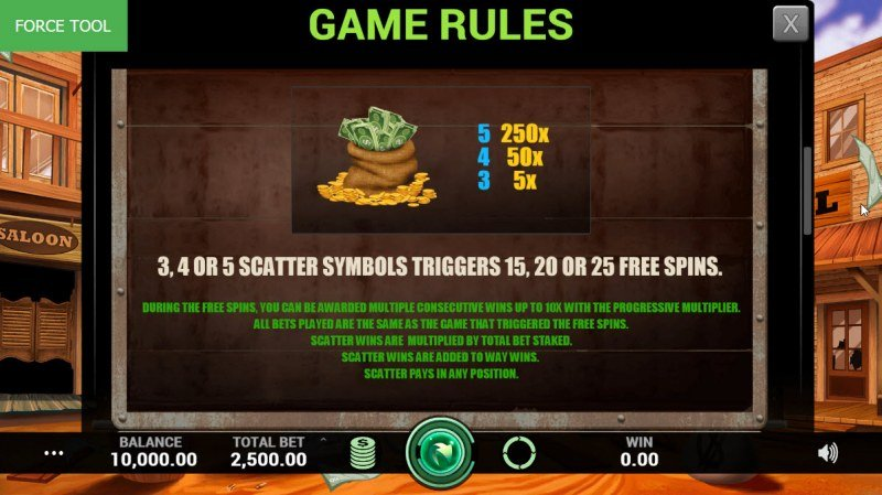 Lost Saga :: Free Spins Rules