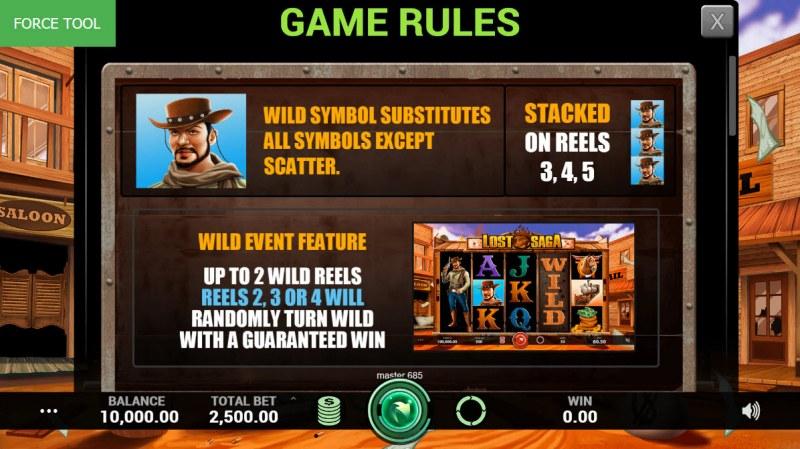 Lost Saga :: Wild Symbols Rules