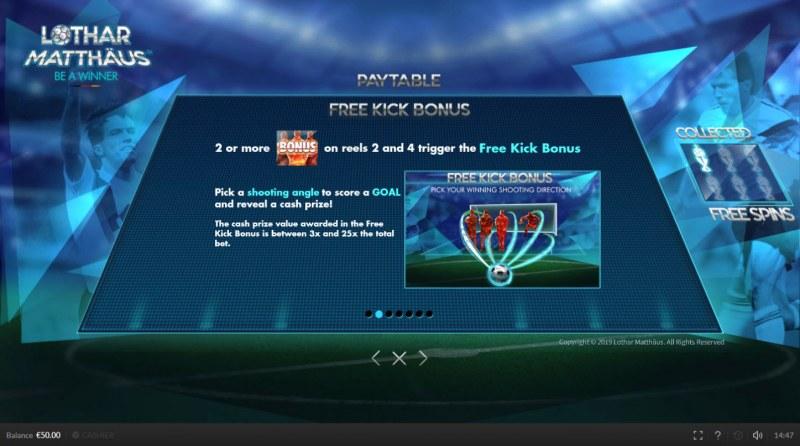 Lothar Matthaus Be A Winner :: Free Kick Bonus