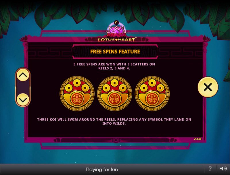 Lotus Heart :: Free Spin Feature Rules