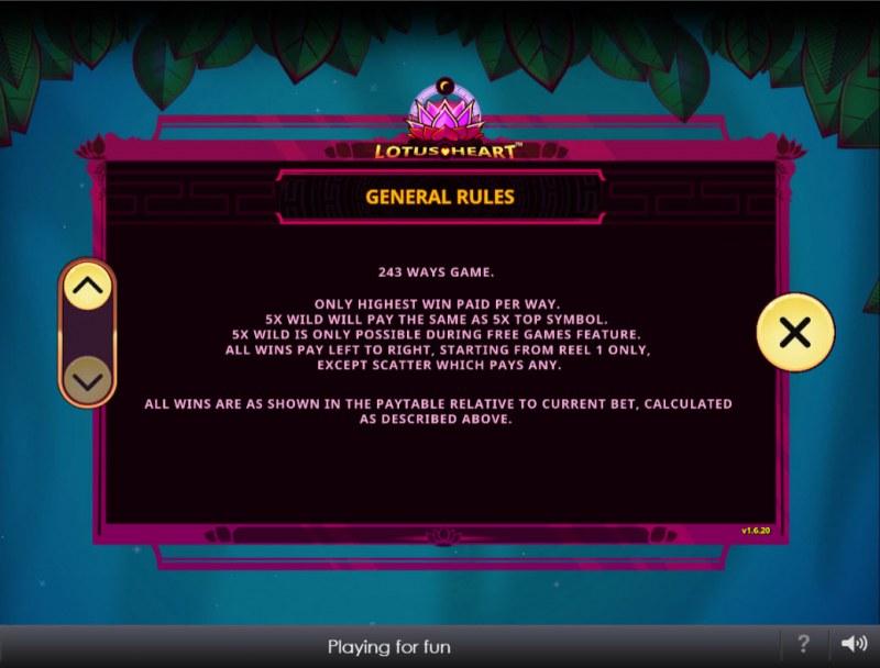Lotus Heart :: General Game Rules
