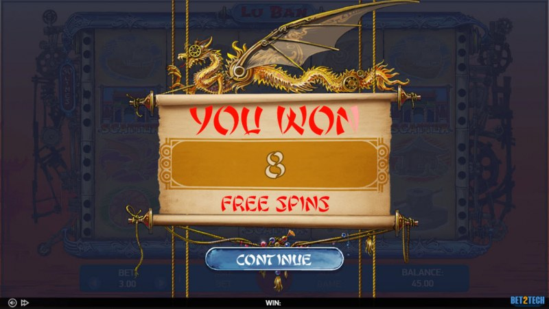 Lu Ban :: 8 free spins awarded