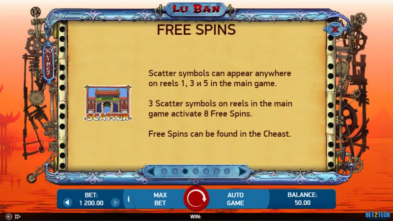 Lu Ban :: Free Spin Feature Rules