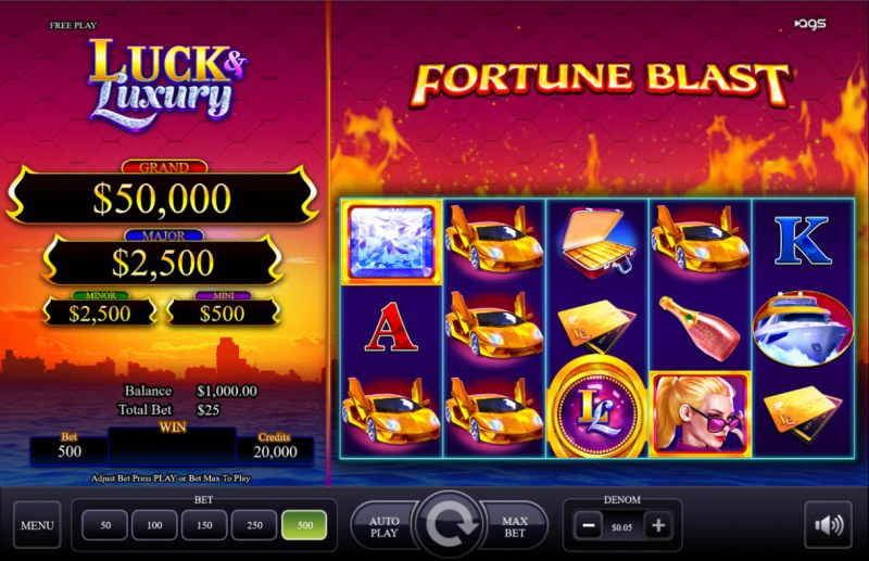 Luck & Luxury :: Main Game Board