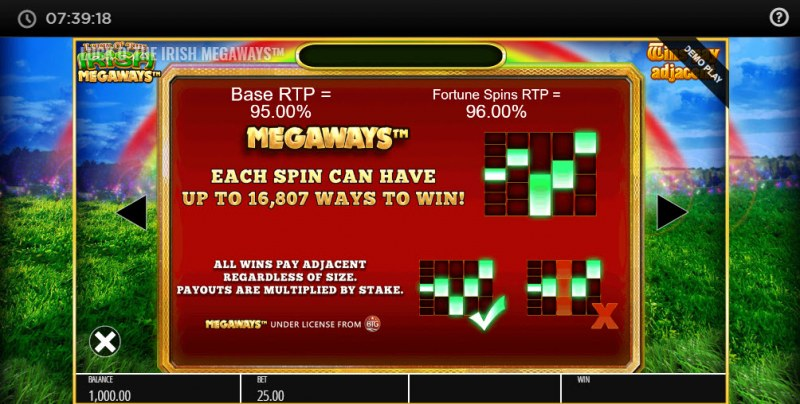 Luck O' the Irish Megaways :: Megaways