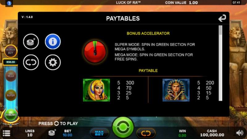 Luck of Ra :: Bonus Accelerator
