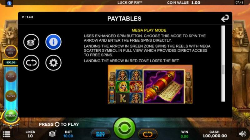 Luck of Ra :: Mega Play Mode