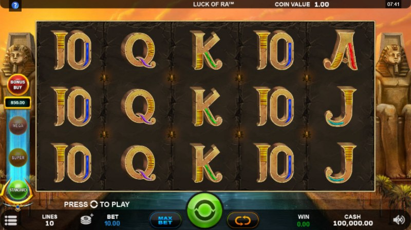 Luck of Ra :: Main Game Board