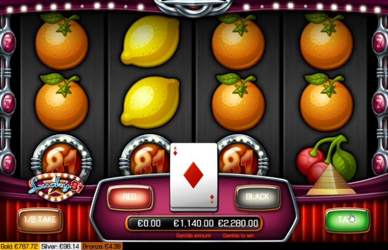 Lucky 81 :: Red or Black Gamble Feature