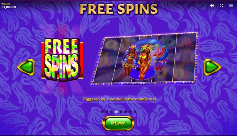 Lucky Carnival :: Free Spin Feature Rules