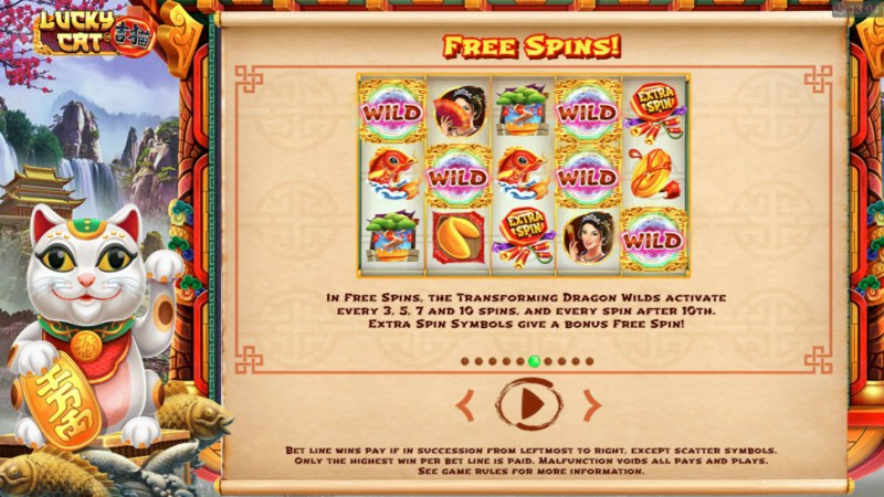 Lucky Cat :: Free Spins Rules