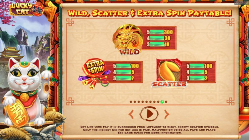 Lucky Cat :: Wild and Scatter Rules