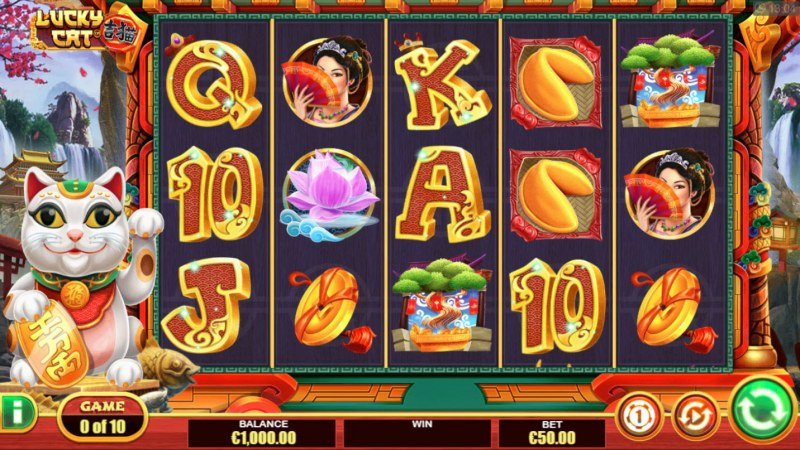 Play slots at Win British: Win British featuring the Video Slots Lucky Cat with a maximum payout of $14,000