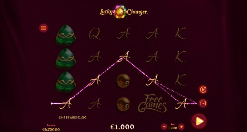 Lucky Changer :: A five of a kind win