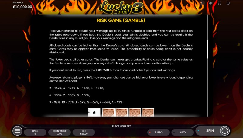 Lucky Dice 3 :: Gamble feature