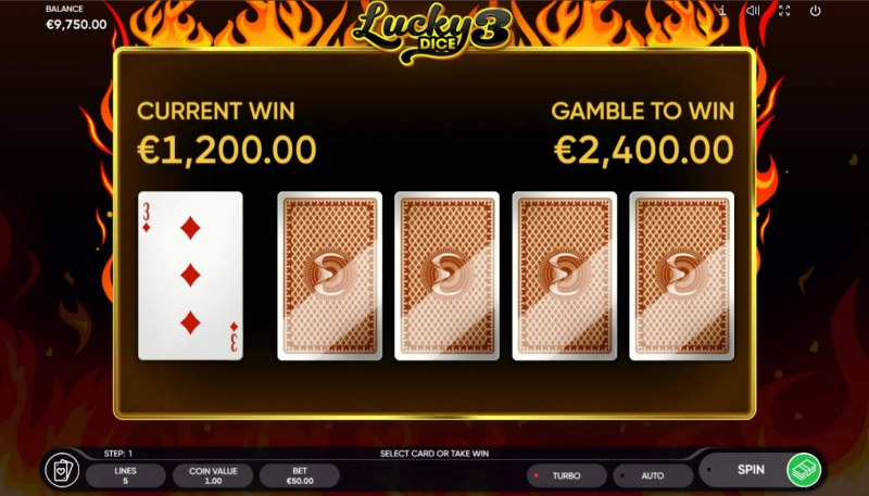 Lucky Dice 3 :: Red or Black Gamble Feature
