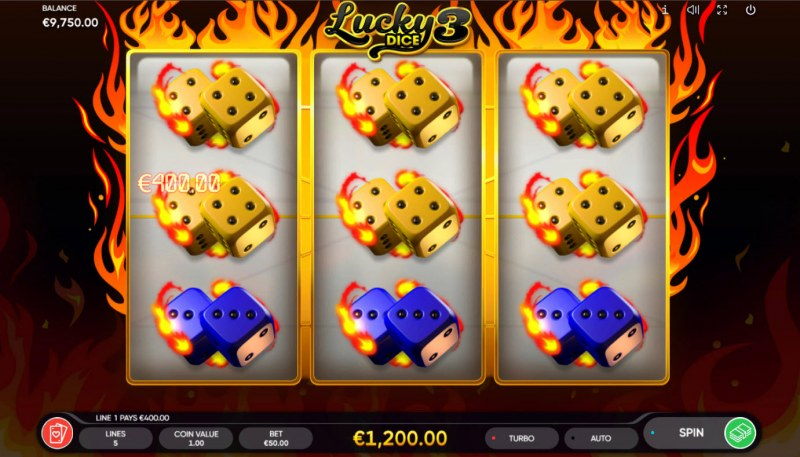 Lucky Dice 3 :: Multiple winning paylines