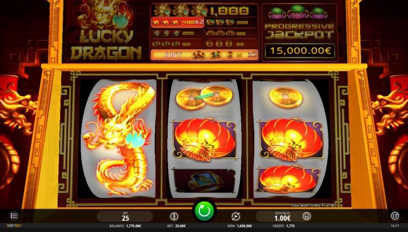 Lucky Dragon :: Multiple winning paylines