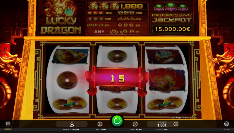 Lucky Dragon :: Any 3 coins wins