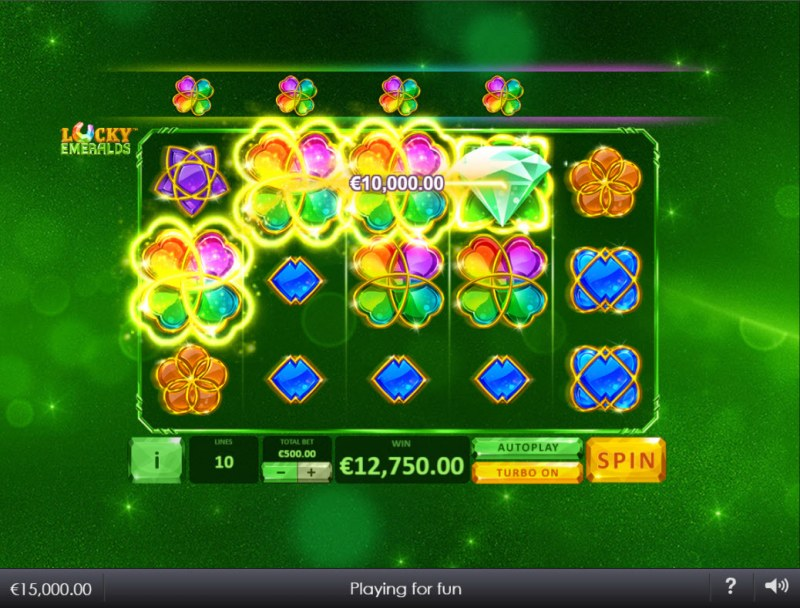 Lucky Emeralds :: Multiple winning combinations lead to a big win