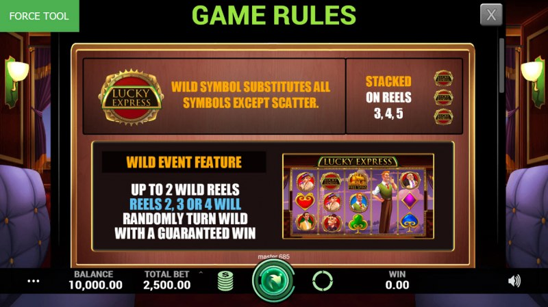 Lucky Express :: Wild Symbols Rules